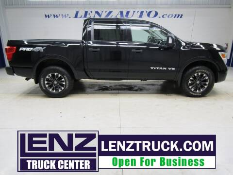 2018 Nissan Titan for sale at LENZ TRUCK CENTER in Fond Du Lac WI