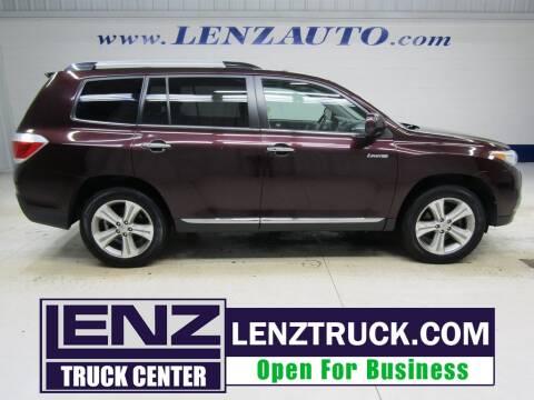 2012 Toyota Highlander for sale at LENZ TRUCK CENTER in Fond Du Lac WI