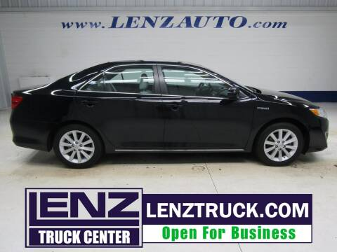 2014 Toyota Camry Hybrid for sale at LENZ TRUCK CENTER in Fond Du Lac WI