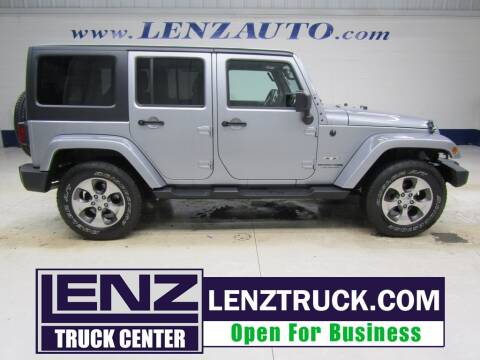 2018 Jeep Wrangler JK Unlimited for sale at LENZ TRUCK CENTER in Fond Du Lac WI