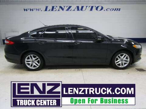 2013 Ford Fusion for sale at LENZ TRUCK CENTER in Fond Du Lac WI