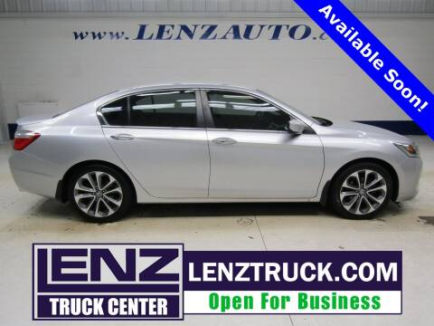 2013 Honda Accord for sale at LENZ TRUCK CENTER in Fond Du Lac WI