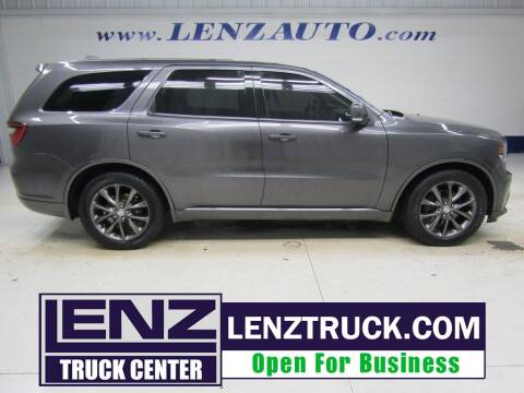 2014 Dodge Durango for sale at LENZ TRUCK CENTER in Fond Du Lac WI
