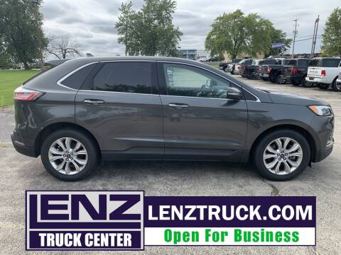 2020 Ford Edge for sale at LENZ TRUCK CENTER in Fond Du Lac WI