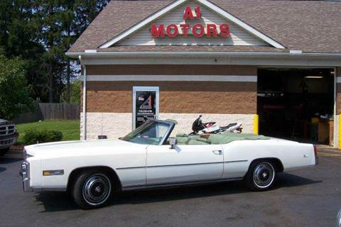 1975 Cadillac Eldorado for sale at A 1 Motors in Monroe MI