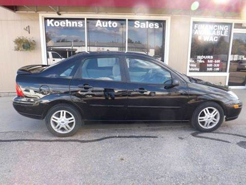 2000 Ford Focus for sale at Koehn's Auto Sales and OK Car Rentals in Mcpherson KS
