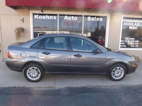 2007 Ford Focus for sale at Koehn's Auto Sales and OK Car Rentals in Mcpherson KS