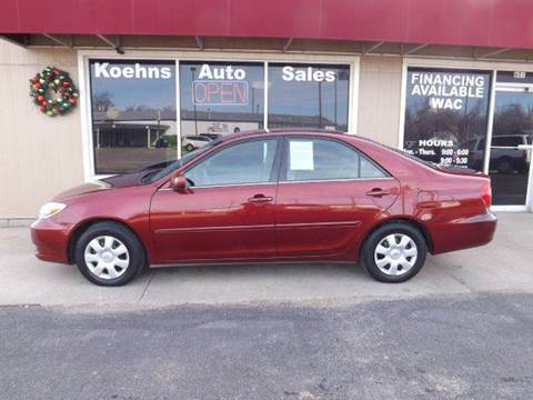 2002 Toyota Camry for sale at Koehn's Auto Sales and OK Car Rentals in Mcpherson KS