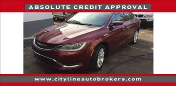 2015 Chrysler 200 for sale at Cityline Auto Brokers in Malden MA