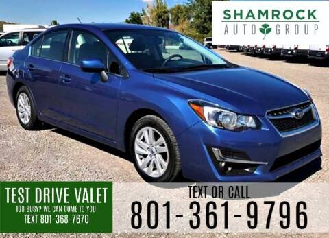 2016 Subaru Impreza for sale at Shamrock Group LLC #1 in Pleasant Grove UT