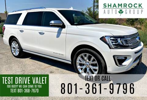 2018 Ford Expedition MAX for sale at Shamrock Group LLC #1 in Pleasant Grove UT