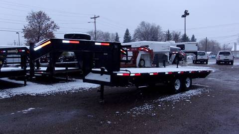 2002 GOOSE 20FT FLATBED TRAILER for sale in Sheridan, WY