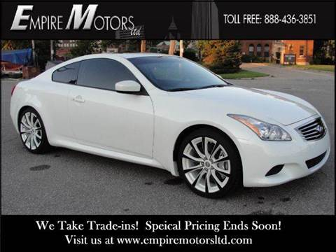 2008 Infiniti G37 for sale at Empire Motors LTD in Cleveland OH