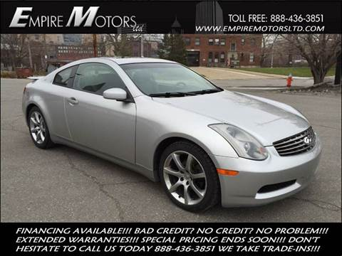 2003 Infiniti G35 for sale at Empire Motors LTD in Cleveland OH