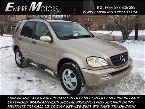2002 Mercedes-Benz M-Class for sale at Empire Motors LTD in Cleveland OH