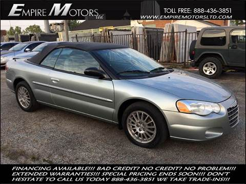 2006 Chrysler Sebring for sale at Empire Motors LTD in Cleveland OH