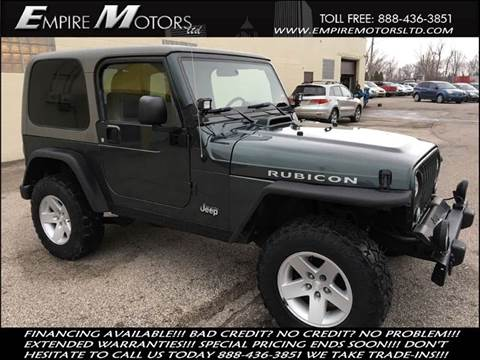 2004 Jeep Wrangler for sale at Empire Motors LTD in Cleveland OH