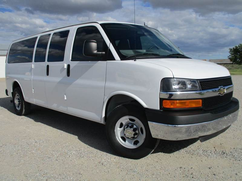 ba9890dd37e5a4 2015 Chevrolet Express Passenger LT 3500 3dr Extended Passenger Van w 1LT  In Montezuma KS - Double TT Auto