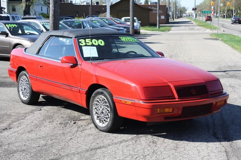 1992 Chrysler Le Baron for sale at MICHAEL'S AUTO SALES in Mount Clemens MI
