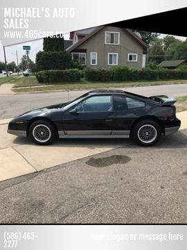 1986 Pontiac Fiero for sale in Mount Clemens, MI
