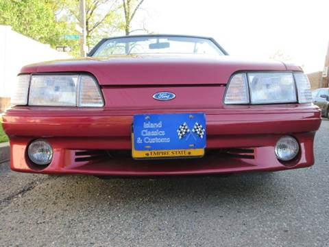 1990 Ford Mustang for sale at Island Classics & Customs in Staten Island NY