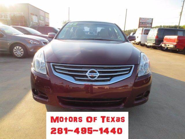 2012 Nissan Altima for sale at MOTORS OF TEXAS in Houston TX