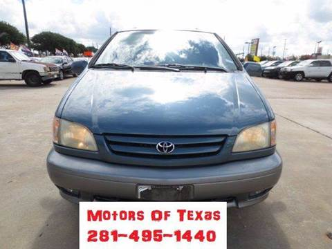 2002 toyota sienna for sale in texas. Black Bedroom Furniture Sets. Home Design Ideas