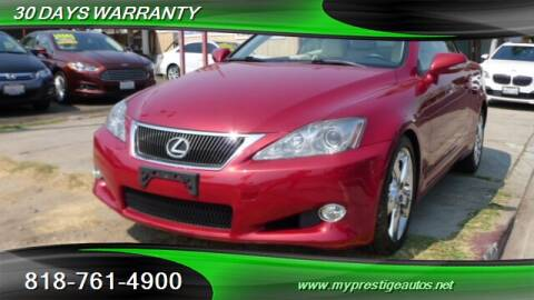 2010 Lexus IS 250C for sale at Prestige Auto Sports Inc in North Hollywood CA