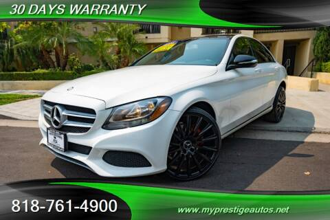 2015 Mercedes-Benz C-Class for sale at Prestige Auto Sports Inc in North Hollywood CA