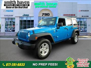 2015 Jeep Wrangler Unlimited for sale in Saint James, NY