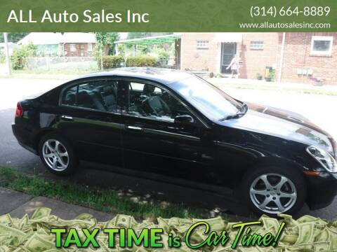 2003 Infiniti G35 for sale at ALL Auto Sales Inc in Saint Louis MO