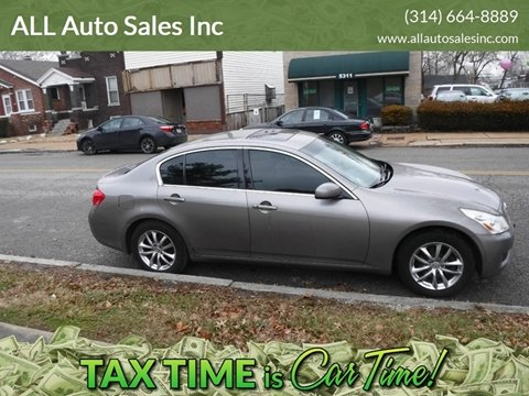 2007 Infiniti G35 x for sale at ALL Auto Sales Inc in Saint Louis MO