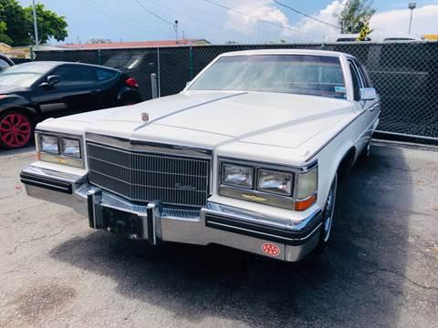 1984 Cadillac DeVille for sale at MATRIX AUTO SALES INC in Miami FL