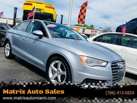 Matrix Auto Sales >> Audi A3 For Sale In Miami Fl Matrix Auto Sales Inc