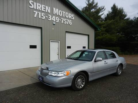 2002 Lincoln Town Car for sale in Siren, WI