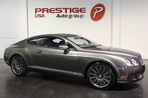 2008 Bentley Continental GT Speed for sale at Prestige USA Auto Group in Miami FL