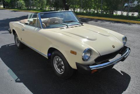 1980 FIAT 124 Spider for sale at VA Leasing Corporation in Doral FL