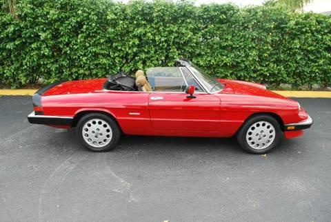 1989 Alfa Romeo Spider for sale at VA Leasing Corporation in Doral FL