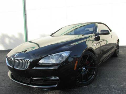 2012 BMW 6 Series for sale at VA Leasing Corporation in Doral FL