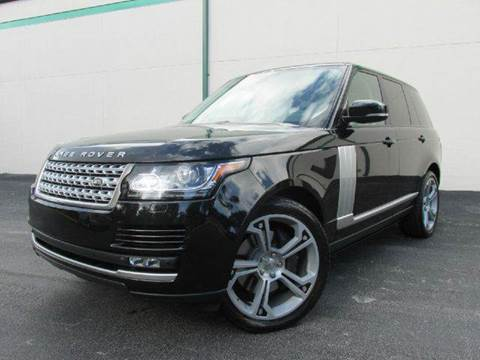 2013 Land Rover Range Rover for sale at VA Leasing Corporation in Doral FL