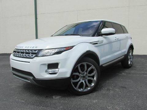 2012 Land Rover Range Rover Evoque for sale at VA Leasing Corporation in Doral FL