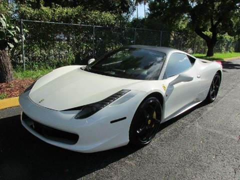 2012 Ferrari 458 Italia for sale at VA Leasing Corporation in Doral FL