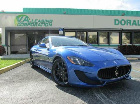 2013 Maserati GranTurismo for sale at VA Leasing Corporation in Doral FL