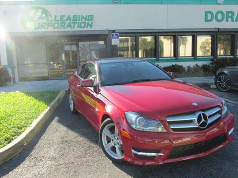 2012 Mercedes-Benz C-Class for sale at VA Leasing Corporation in Doral FL