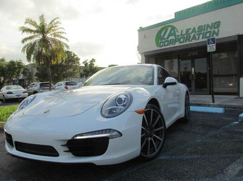 2012 Porsche 911 for sale at VA Leasing Corporation in Doral FL