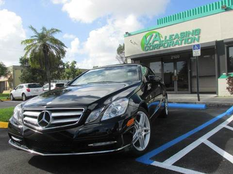 2013 Mercedes-Benz E-Class for sale at VA Leasing Corporation in Doral FL