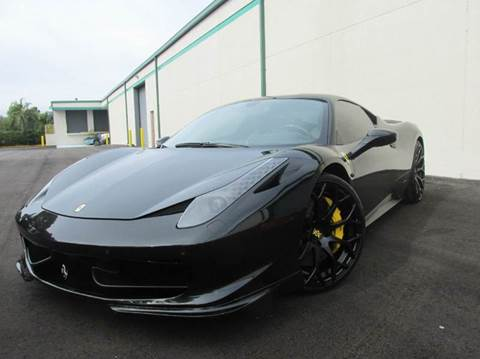 2010 Ferrari 458 Italia for sale at VA Leasing Corporation in Doral FL