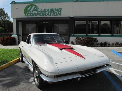 1967 Chevrolet Corvette for sale at VA Leasing Corporation in Doral FL