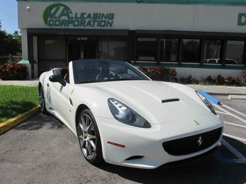 2013 Ferrari California for sale at VA Leasing Corporation in Doral FL