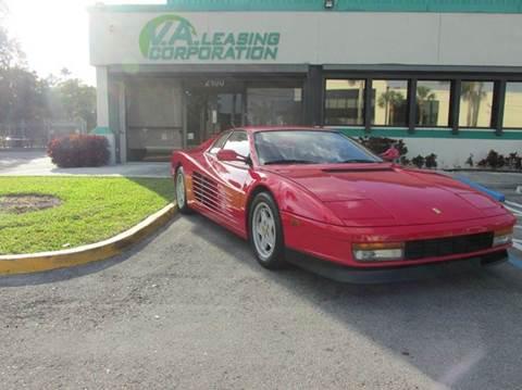 1988 Ferrari Testarossa for sale at VA Leasing Corporation in Doral FL